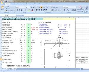Eccentric Footing Design Excel Sheet - Civil Engineers PK
