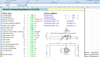 Combined Footing Design Excel Sheet - Civil Engineers PK