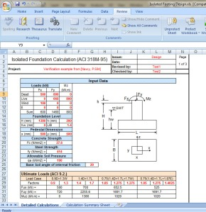 Isolated Footing Design Excel sheet - Civil Engineers PK