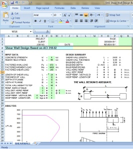 Shear wall Design Excel sheet based on ACI 318 02 Civil Engineers PK