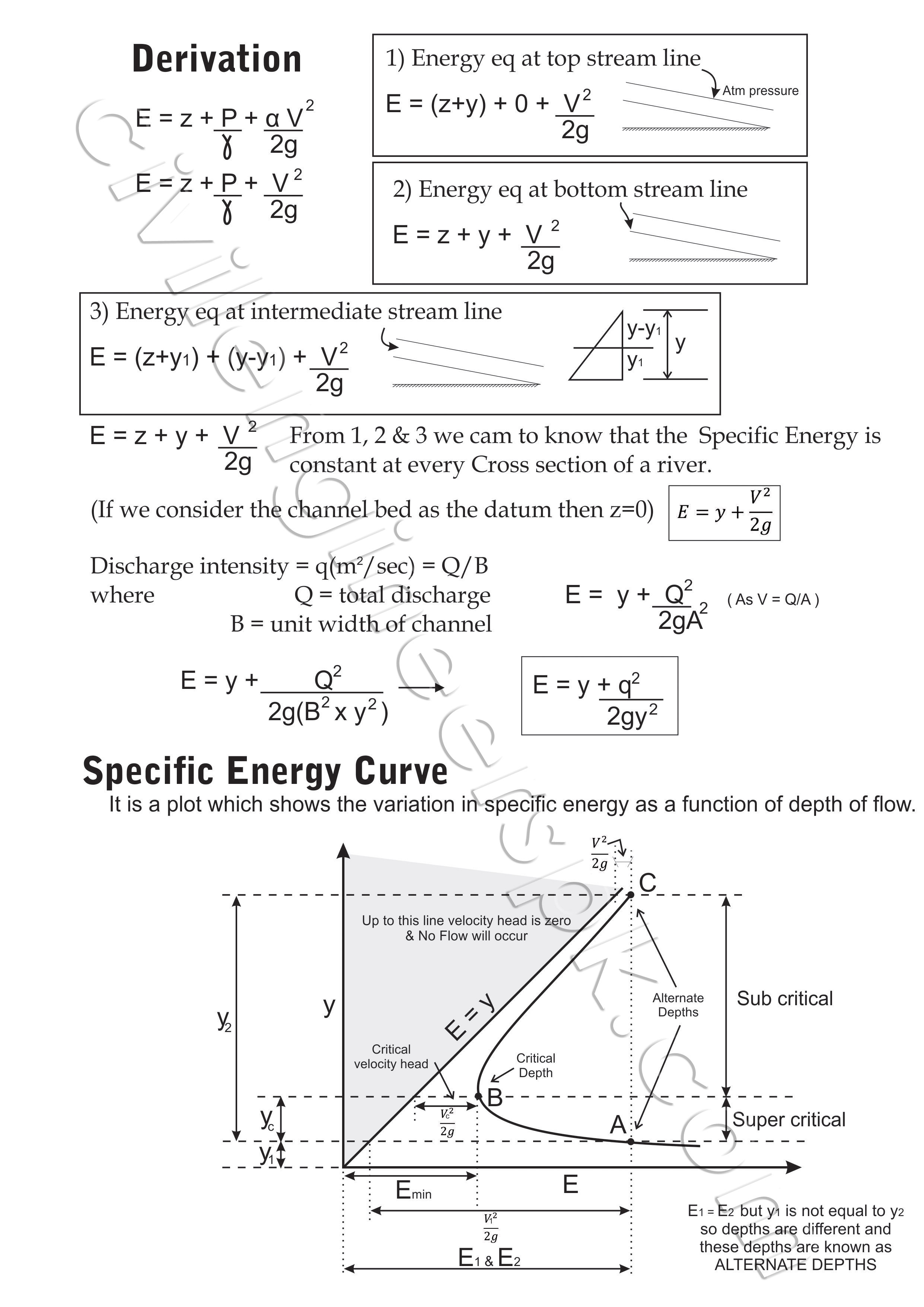 Exp 2 Specific Energy  U0026 Flow Depth